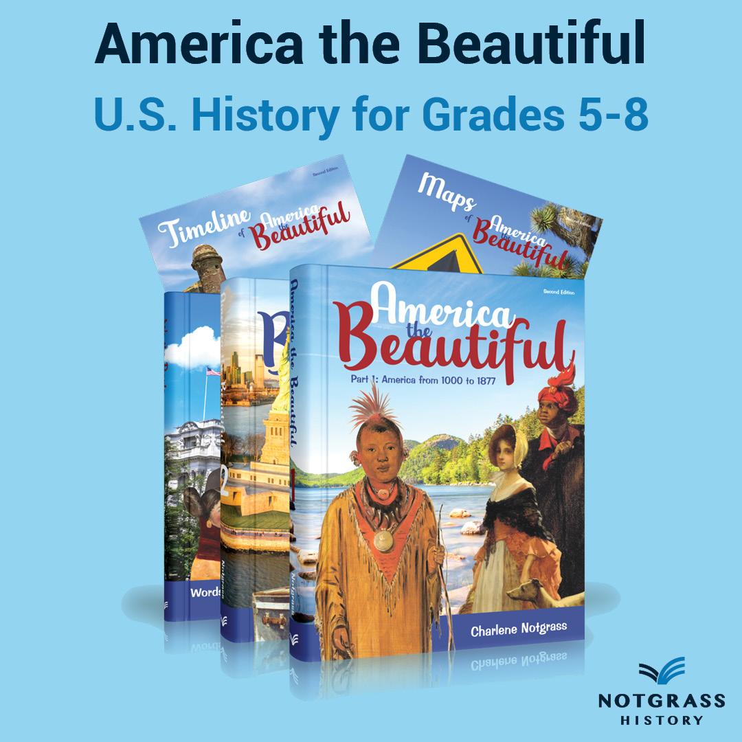 America the Beautiful - U.S. History for Grades 5-8